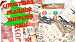 Download Planner Supplies Haul Video