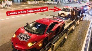 Download TOKYO POLICE PULL OVER LAMBORGHINI VIOLATING JAPANESE LAW! Video