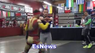 Download Boxing Champ Vasyl Lomachenko As Iron Man Taking Off In The Gym - EsNews Boxing Video