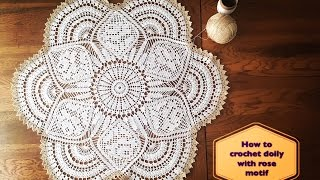 Download How to crochet doily with rose motif Part 1 of 4 Video