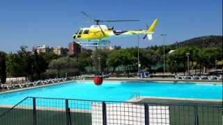 Download Amazing Video Fire Helicopter Pilot using swimming pool Video