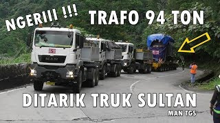 Download AUTO VIRAL !!! 3 UNIT TRUK MAN TARIK TRAFO 94 TON NANJAK SITINJAU LAUIK Video