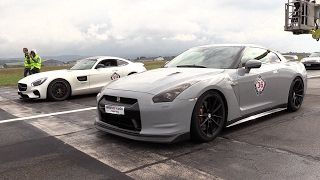 Download Mercedes-AMG GTS vs Audi RS6 w/ Akrapovic vs Nissan GT-R R35! Video