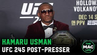 "Download Kamaru Usman describes Colby Covington fight as ""Mano-a-mano"" 