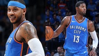 Download Carmelo Anthony, Paul George Thunder Debut! Westbrook Triple Double! Knicks vs Thunder Video