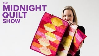 Download QUILT AS YOU GO Placemats for a Midnight Quilt Show DINNER PARTY with Angela Walters Video