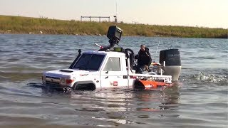 Download RC ADVENTURES - TOYBOTA PROJECT -TOP GEAR TRUCK BOAT TRiBUTE! PT9 Video