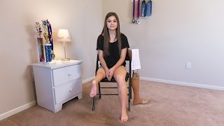 Download Teenage Ballerina Uses Ankle As Knee Joint Video