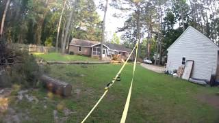 Download Pulling down a tree with a strap Video