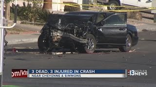 Download 3 dead, 3 injured in North Las Vegas crash Video