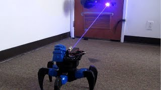 Download Homemade Death Ray Laser DRONE BOT!!! Remote Controlled!! Video