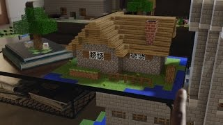 Download Microsoft HoloLens Demonstration Shows off Holographic Minecraft, Apps, and More Video