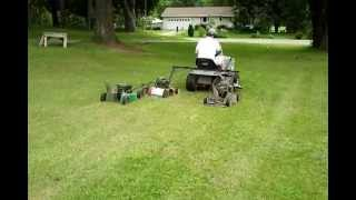 HOMEMADE RIDE ON HEDGE CUTTER (Also homemade mowing machine on this