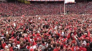Download Ohio State fans storm field after Buckeyes beat Michigan 30-27 Video