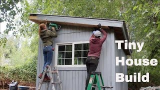 Download Tiny House Build - Wiring, Insulation, Drywall! Video