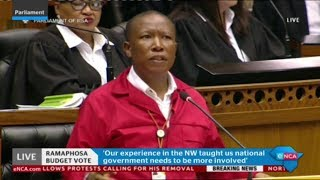 Download Malema responds to Presidency budget vote speech Video