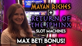 Download MAX BET BONUS! Return of the Sphinx and Mayan Riches Slot Machines! Video