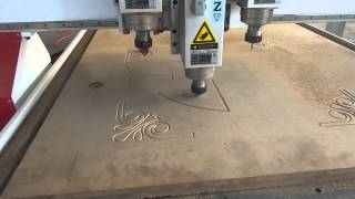Download China supplier Philicam-ruofen three spindle wood cnc router work video Video