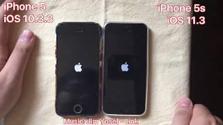 Download iPhone 5 iOS 10.3.3 vs. iPhone 5s iOS 11.3 - Full Speedtest 2018 Video