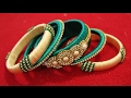Download Latest silk thread bangle making at home I Easy and Simple bangles Video
