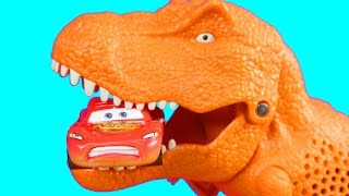 Download Disney Pixar Cars Lightning McQueen & Mater With Matchbox On A Mission Dino Trapper Trailer Video