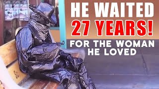 Download Bronze Cowboy Living Statue – The Love Story Video