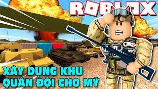 Download Roblox   CÙNG VAMY XÂY DỰNG DOANH TRẠI CHO QUÂN ĐỘI MỸ - 2 Player Military Tycoon   KiA Phạm Video