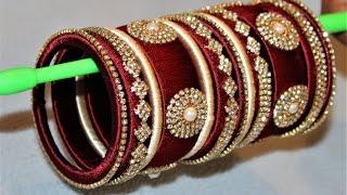 Download How to make designer silk thread Designer Bridal bangles at Home    Video