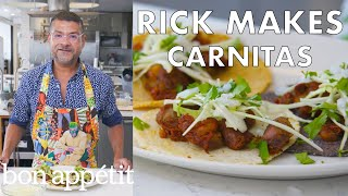 Download Rick Makes Double-Pork Carnitas and Corn Tortillas | From the Test Kitchen | Bon Appétit Video
