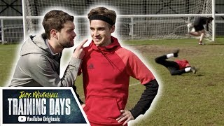 Download Dizzy/Blindfold/Backheel Penalty Challenge with Joe Sugg!! | Jack Whitehall: Training Days Video
