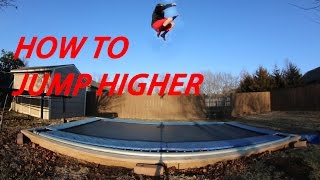 Download HOW TO JUMP HIGHER ON A TRAMPOLINE! Video