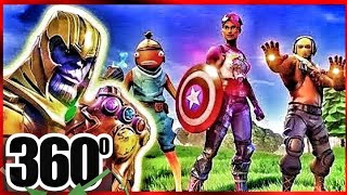Download FORTNITE 360° VR THANOS from Marvel Avengers in Virtual Reality for VR BOX 360 Video