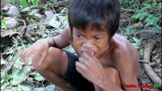 Download Primitive Technology - Eating delicious - Awesome cooking octopus on a rock Video