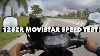 Download TOP SPEED 125ZR MOVISTAR STANDARD X GPS SPEEDOMETER Video