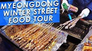 Download KOREAN STREET FOOD 🇰🇷: Myeongdong Winter Street Food Tour! 명동의 겨울 길거리 음식 투어 Video