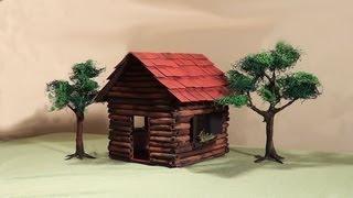 Download Miniatura (diorama) - Casa de madeira - Miniature Wooden House - Part 1 Video
