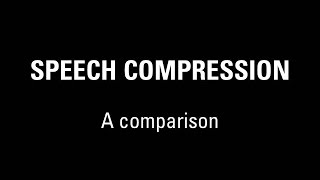 Download A comparison of speech coding technologies used in communications systems Video