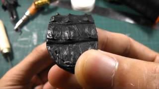 Download handcrafted BLACK HORNBACK watch strap by LEATHEROUS Video
