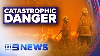Download Catastrophic fire warning issued for Hunter region and Greater Sydney | Nine News Australia Video