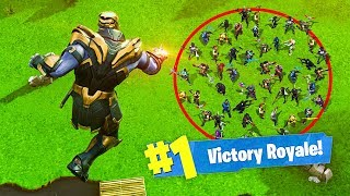 Download KILLING 50 PLAYERS in 1 SECOND as THANOS! - Fortnite Video