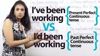 Download Present Perfect Continuous Tense VS Past Perfect Continuous Tense ( English Grammar Lesson) Video