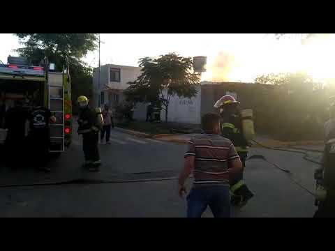Incendio barrio Pablo VI