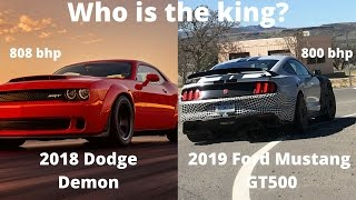 Download The ultimate muscle car? - 2018 Dodge Demon VS 2019 Ford Mustang GT500 Video