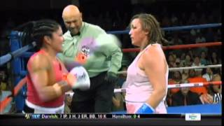 Download Woman boxer goes crazy, eats punches with hands down Video