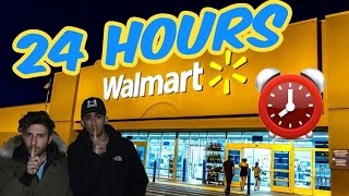 Download (CREEPY!) 24 HOUR OVERNIGHT WALMART FORT ⏰ | CHASED BY SCARY SECURITY (ALARM WENT OFF ALMOST CAUGHT) Video