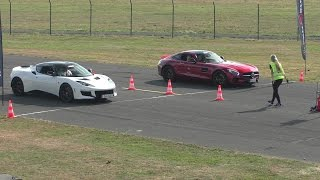 Download DRAGRACE | Lotus Evora 400 vs. AMG GT vs. RS3 vs. 911 Turbo Video