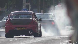 Download Tuned Cars Leaving Car Show-INSANE SOUNDS & BURNOUTS! Video