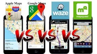 Download Waze vs Google Maps vs Apple Maps vs Mapquest! Video
