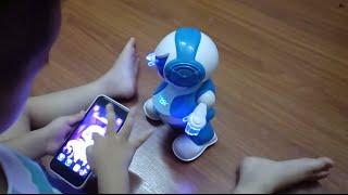 Download TOSY DiscoRobo dancing and talking robot controlled by smartphone Video