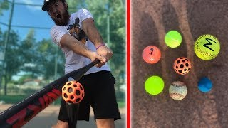 Download HOW FAR CAN I HIT THESE BALLS? IRL BASEBALL CHALLENGE Video